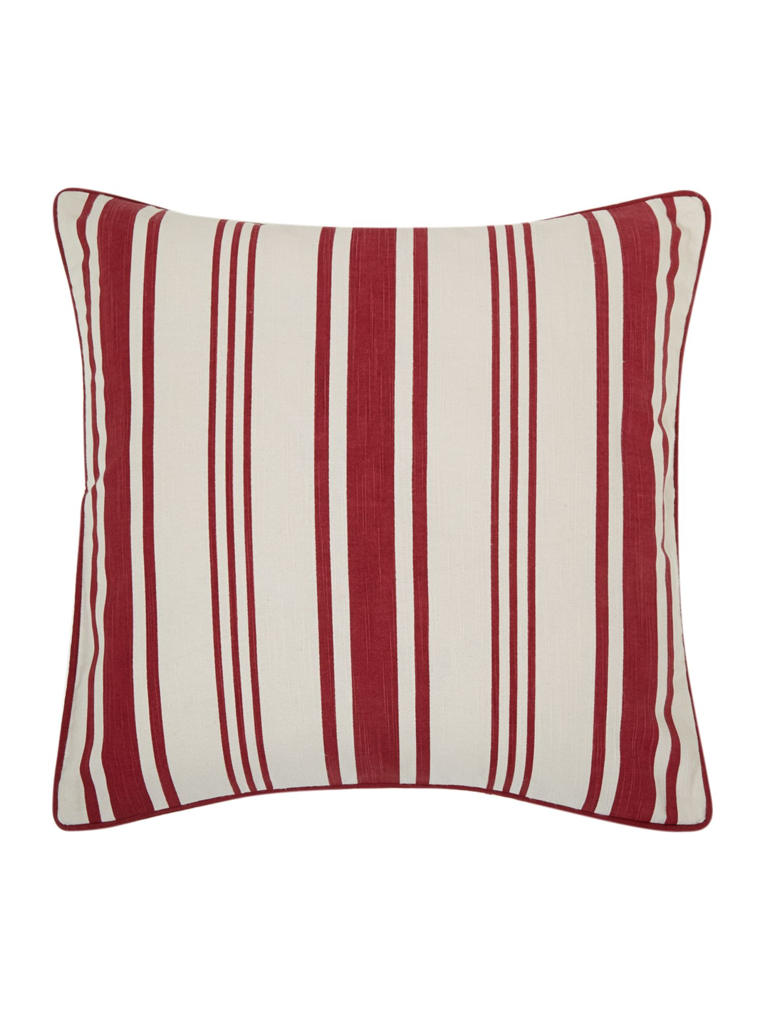 Red Stripe Print Cushion