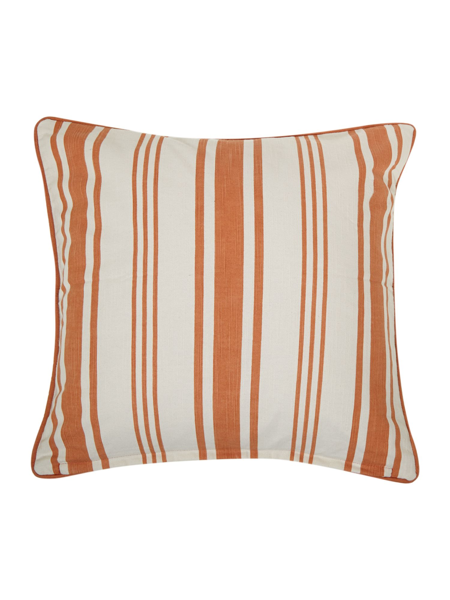Orange Stripe Print Cushion
