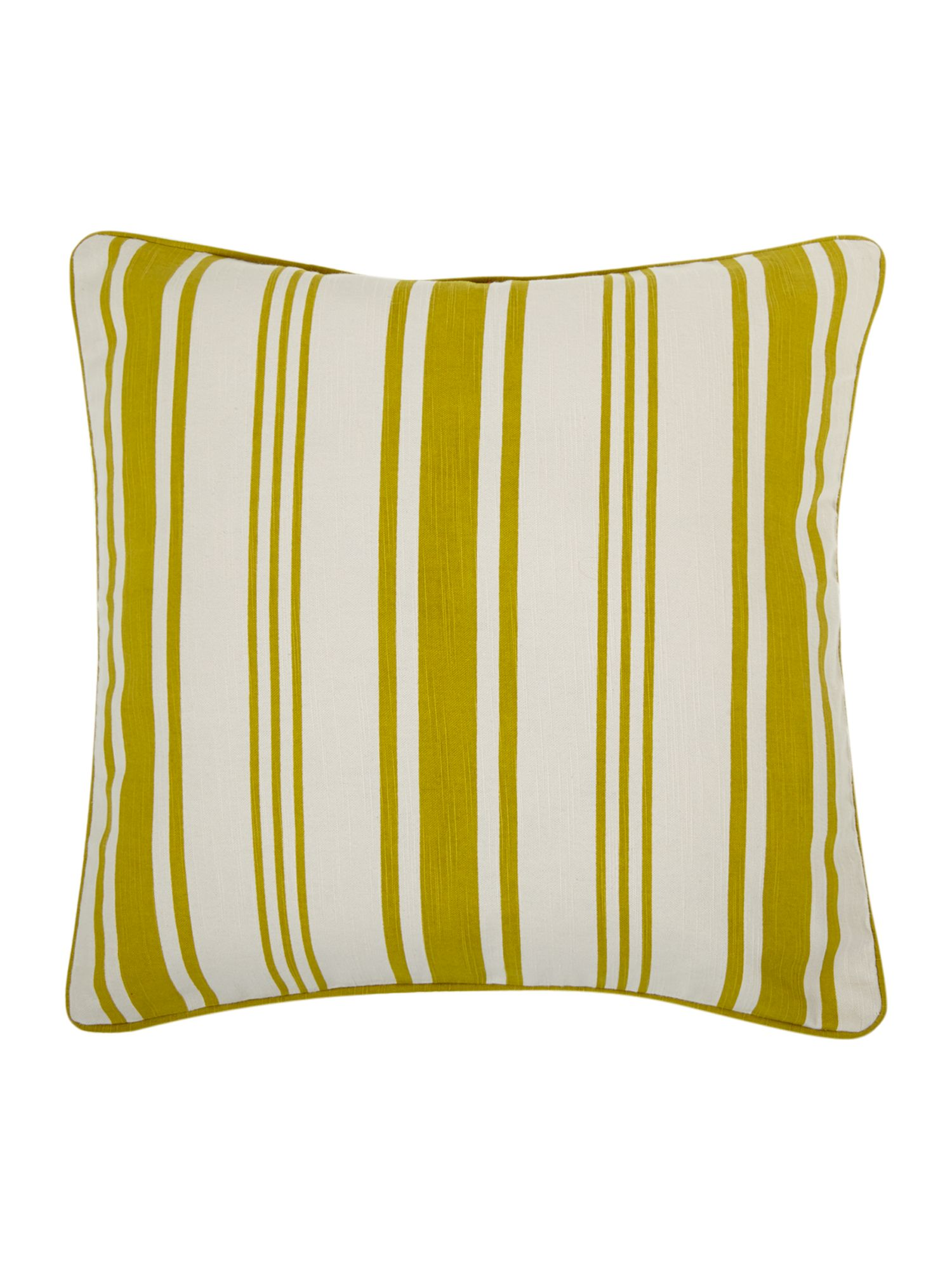 Lime Stripe Print Cushion