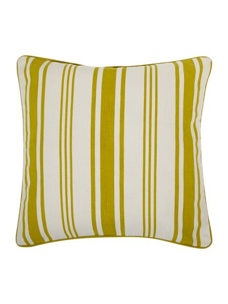 Linea Lime Stripe Print Cushion