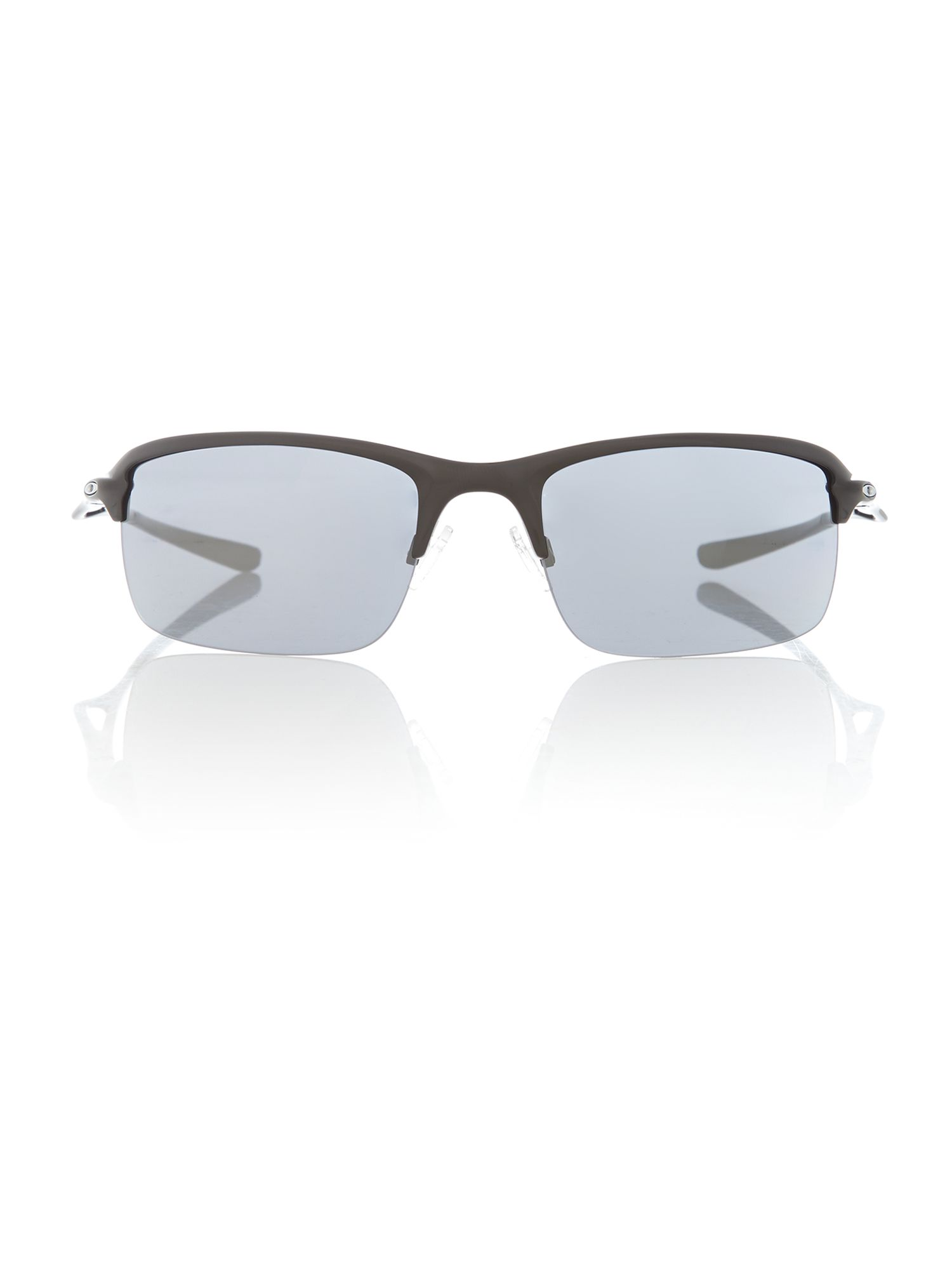 Men` wire tap polished black sunglasses