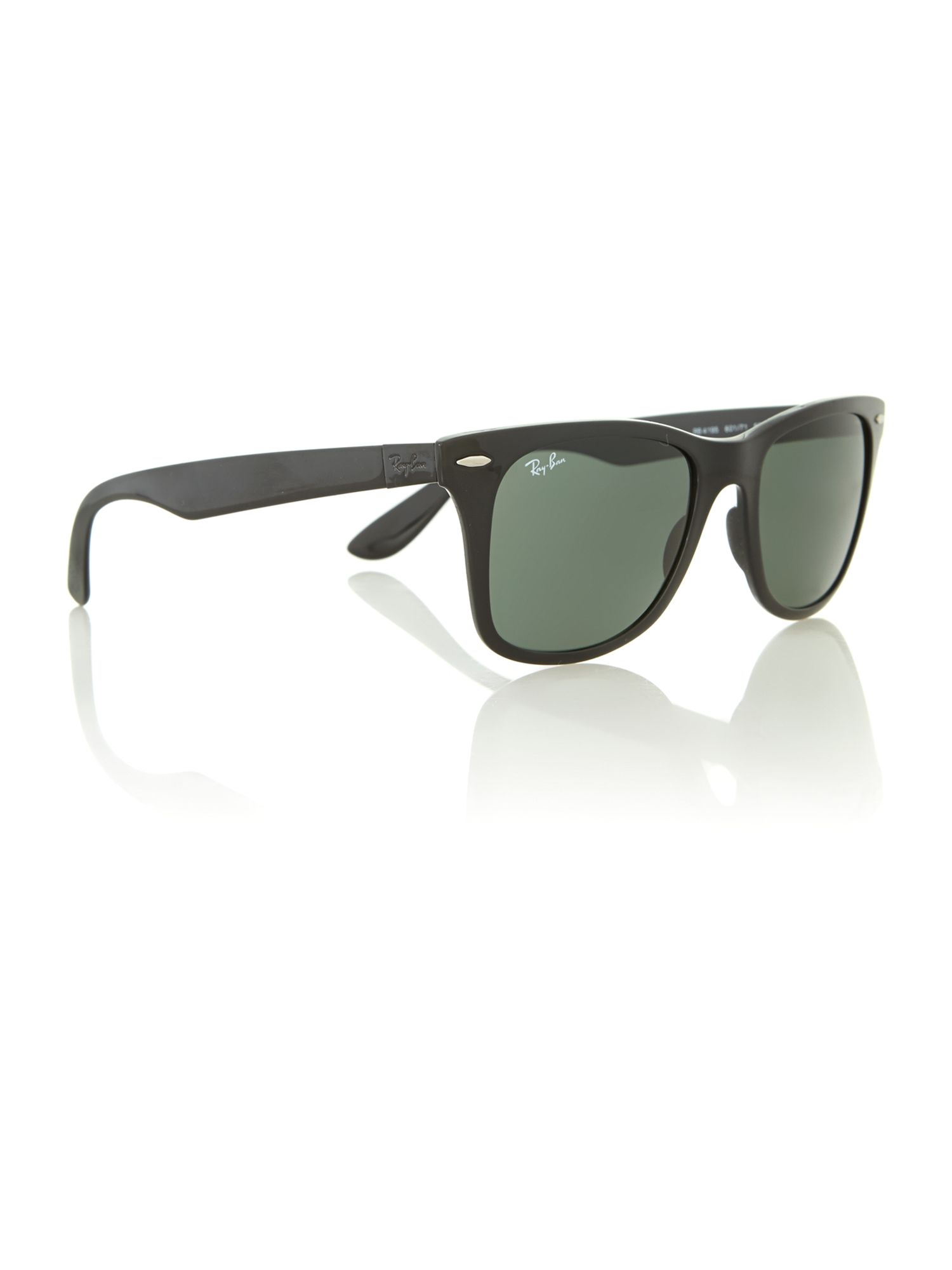 Men`s black light force wayfarer sunglasses