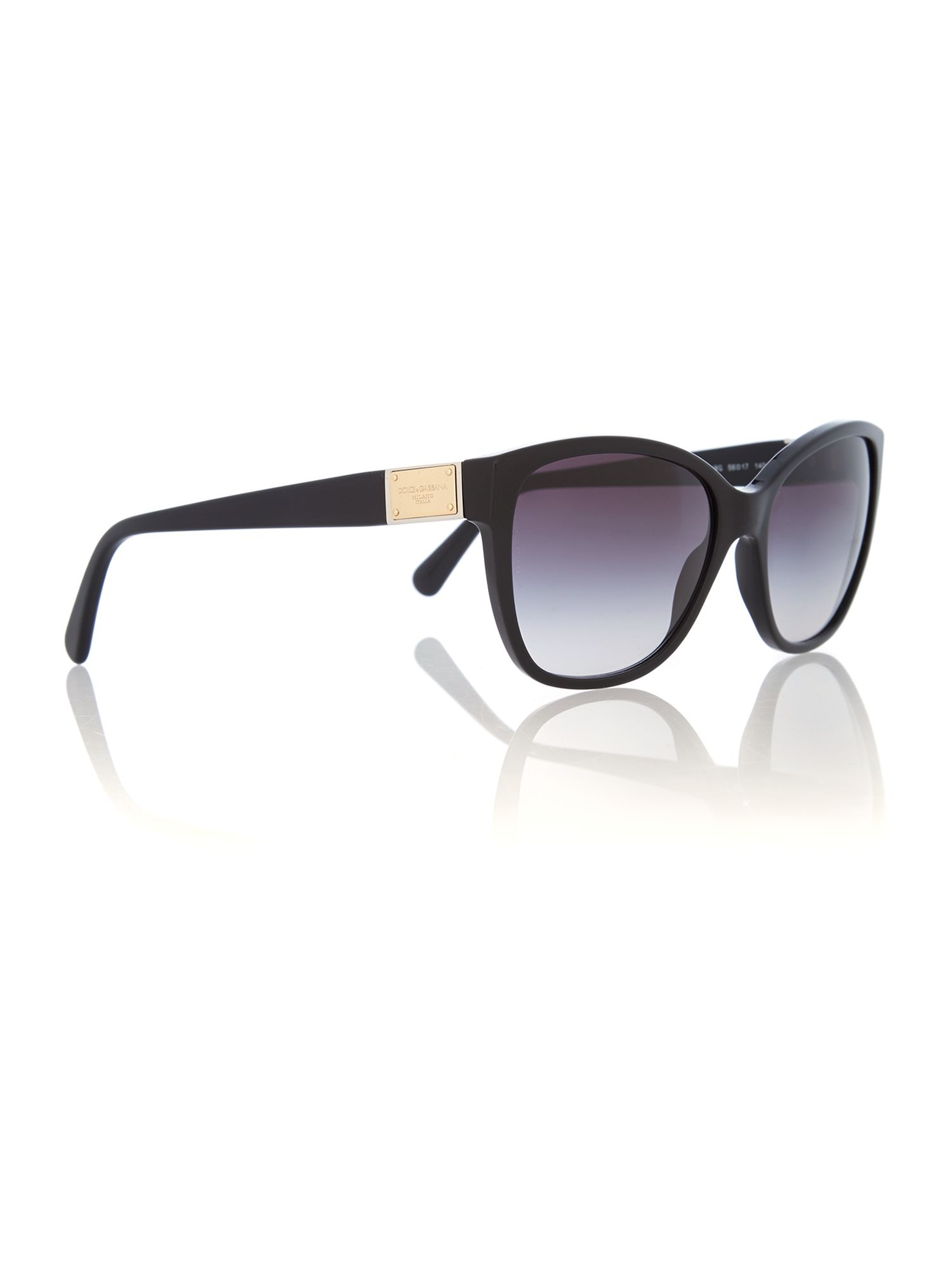 Black logo plaque sunglasses