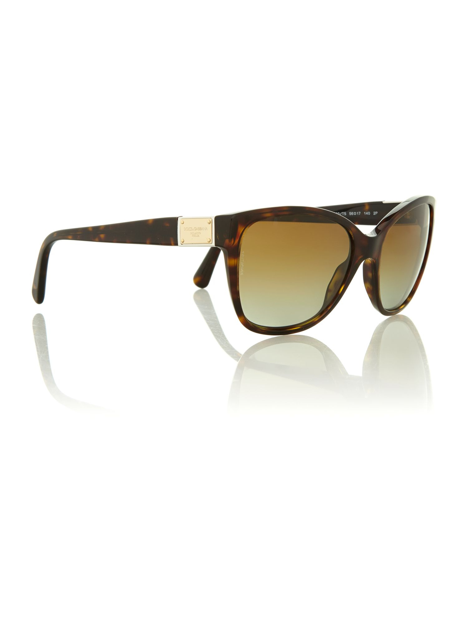 Havana logo plaque sunglasses