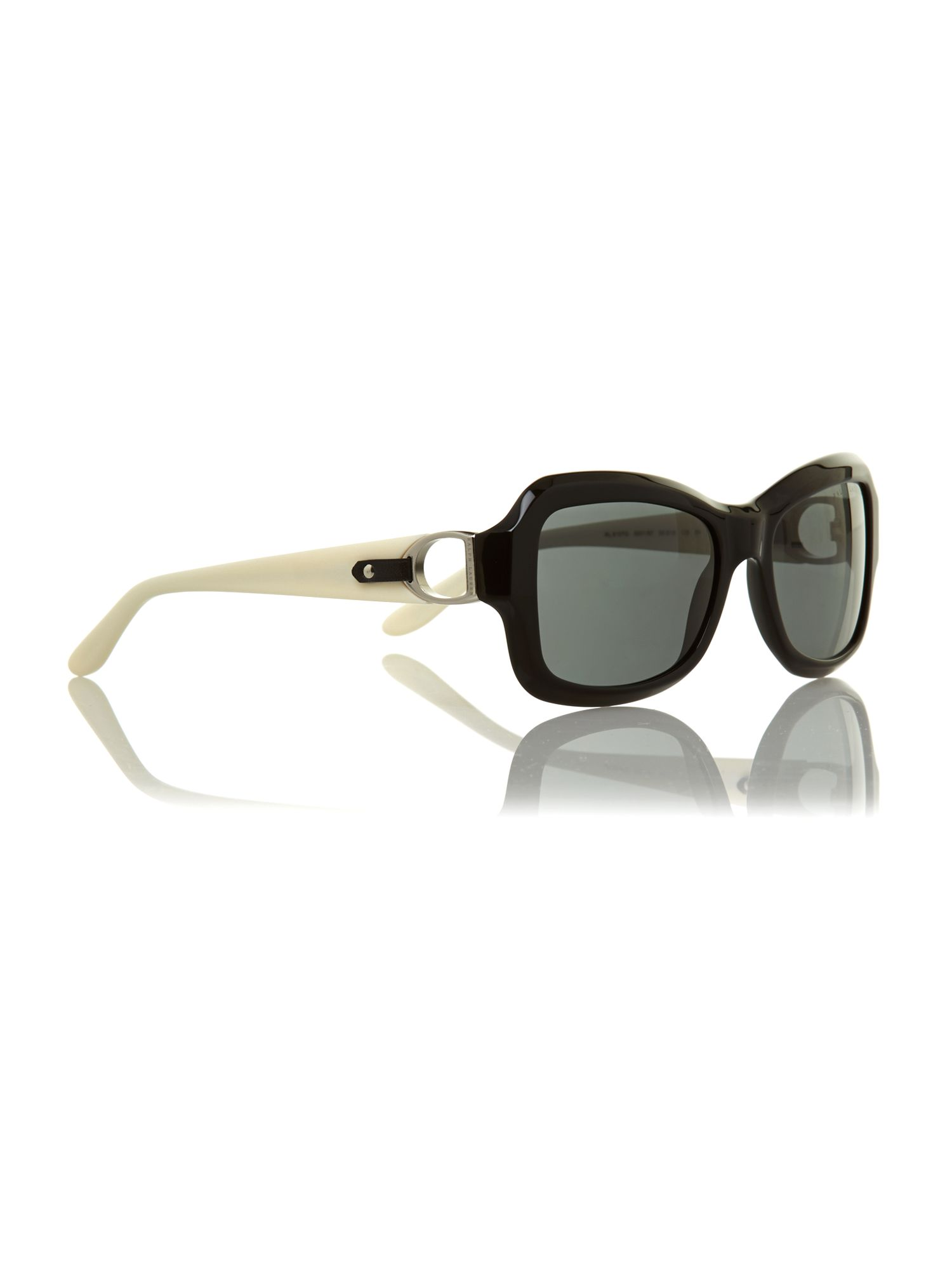 Black grey acetate sunglasses
