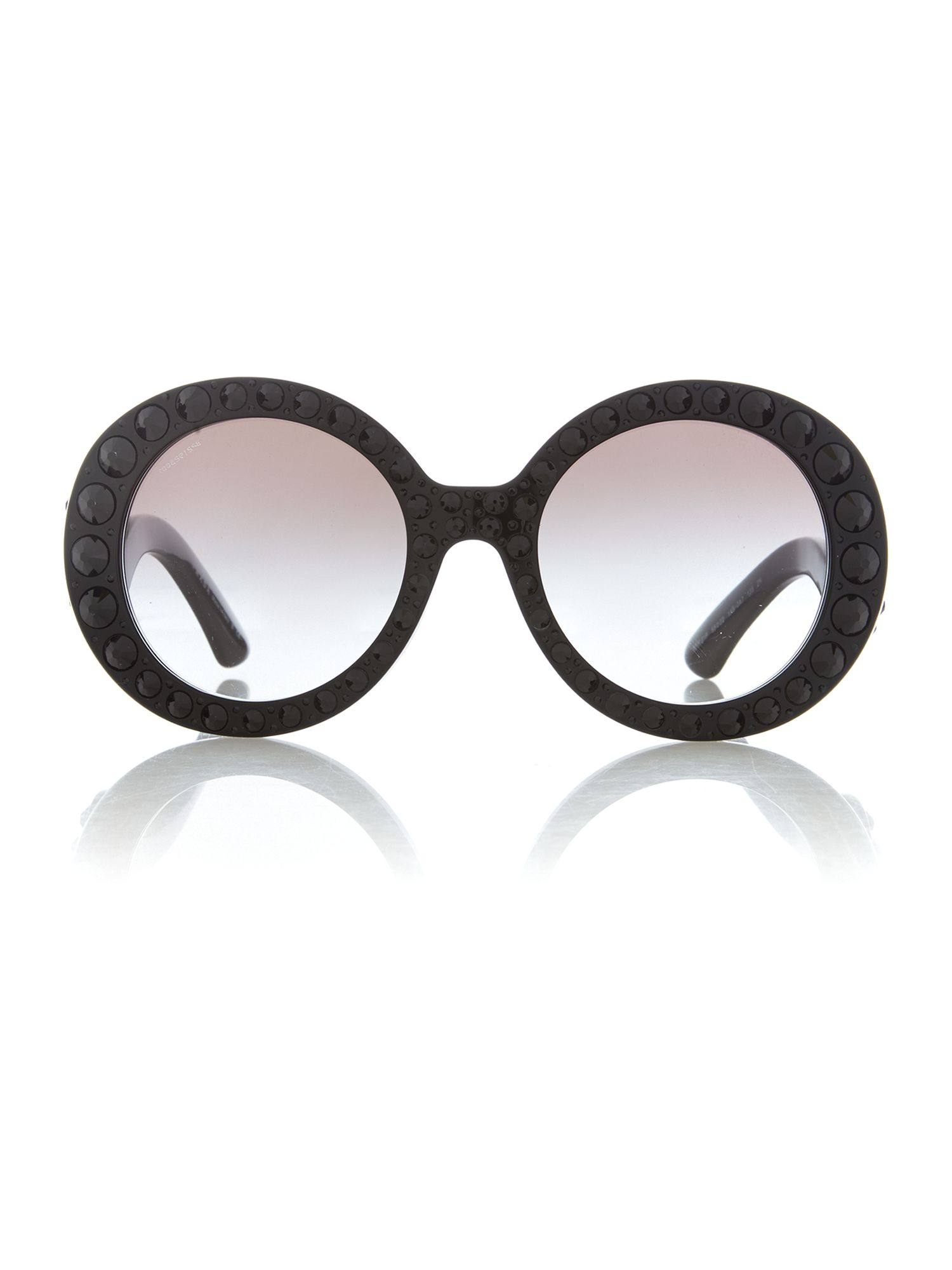 Ladies black ornate sunglasses