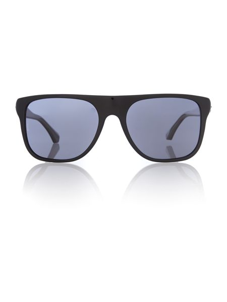 Emporio Armani Mens Black Square Sunglasses