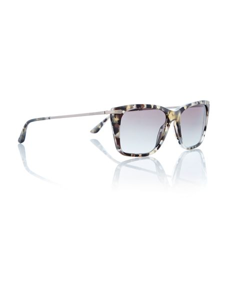 Giorgio Armani Sunglasses Ladies Matte Grey Sunglasses