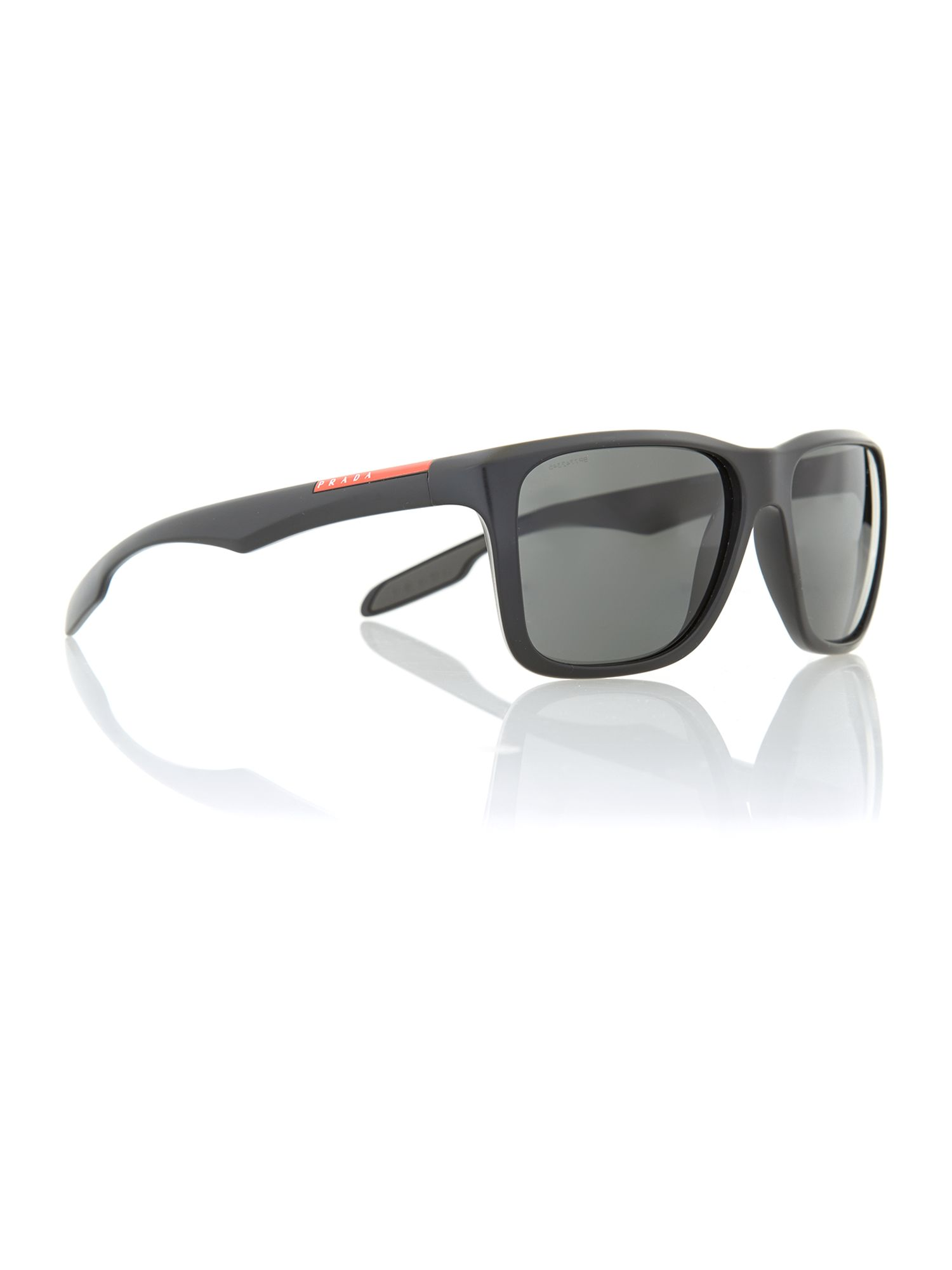 Mens Shiny Black Square Sunglasses