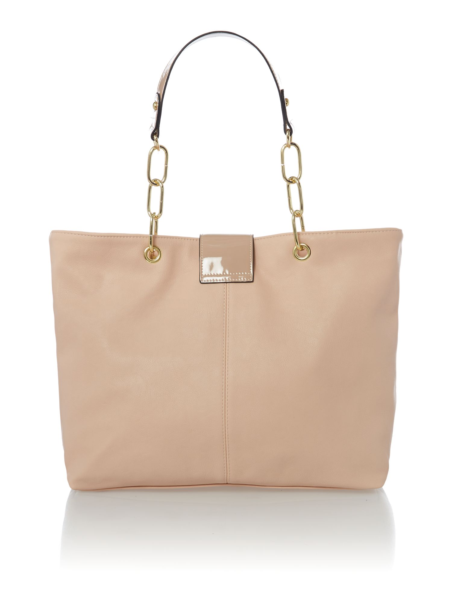 Mindy zip top tote bag