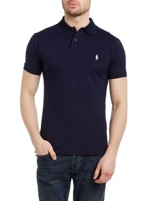 Classic slim fit stretch polo shirt