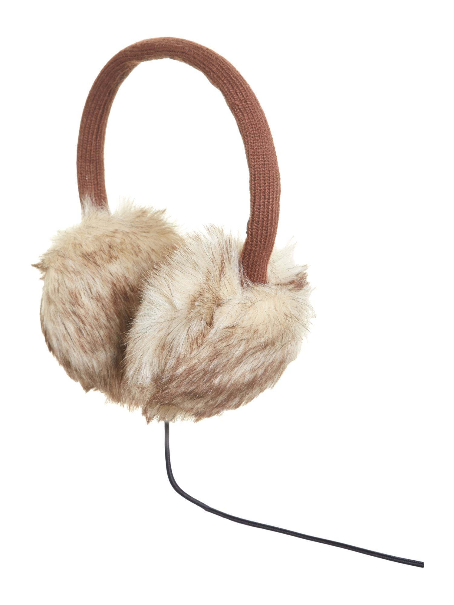 Audio earmuff faux fur