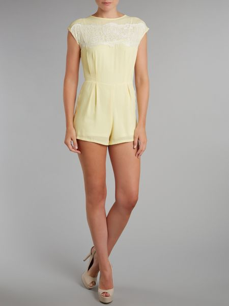 Love Lace top playsuit