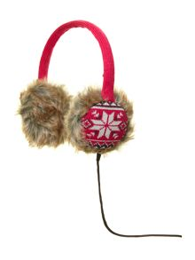 Audio earmuff fairisle knit