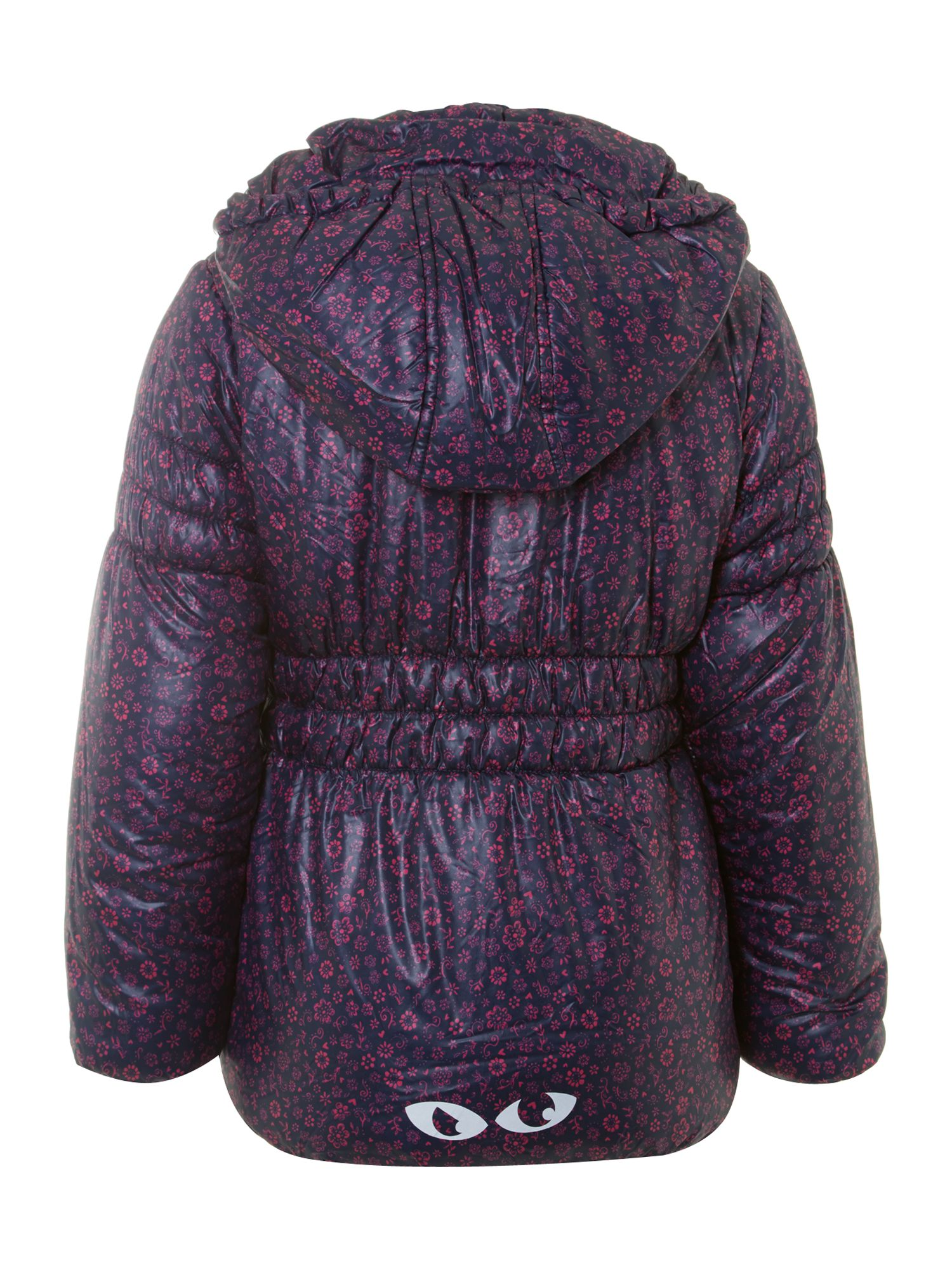 Girl`s all-over-print padded jacket