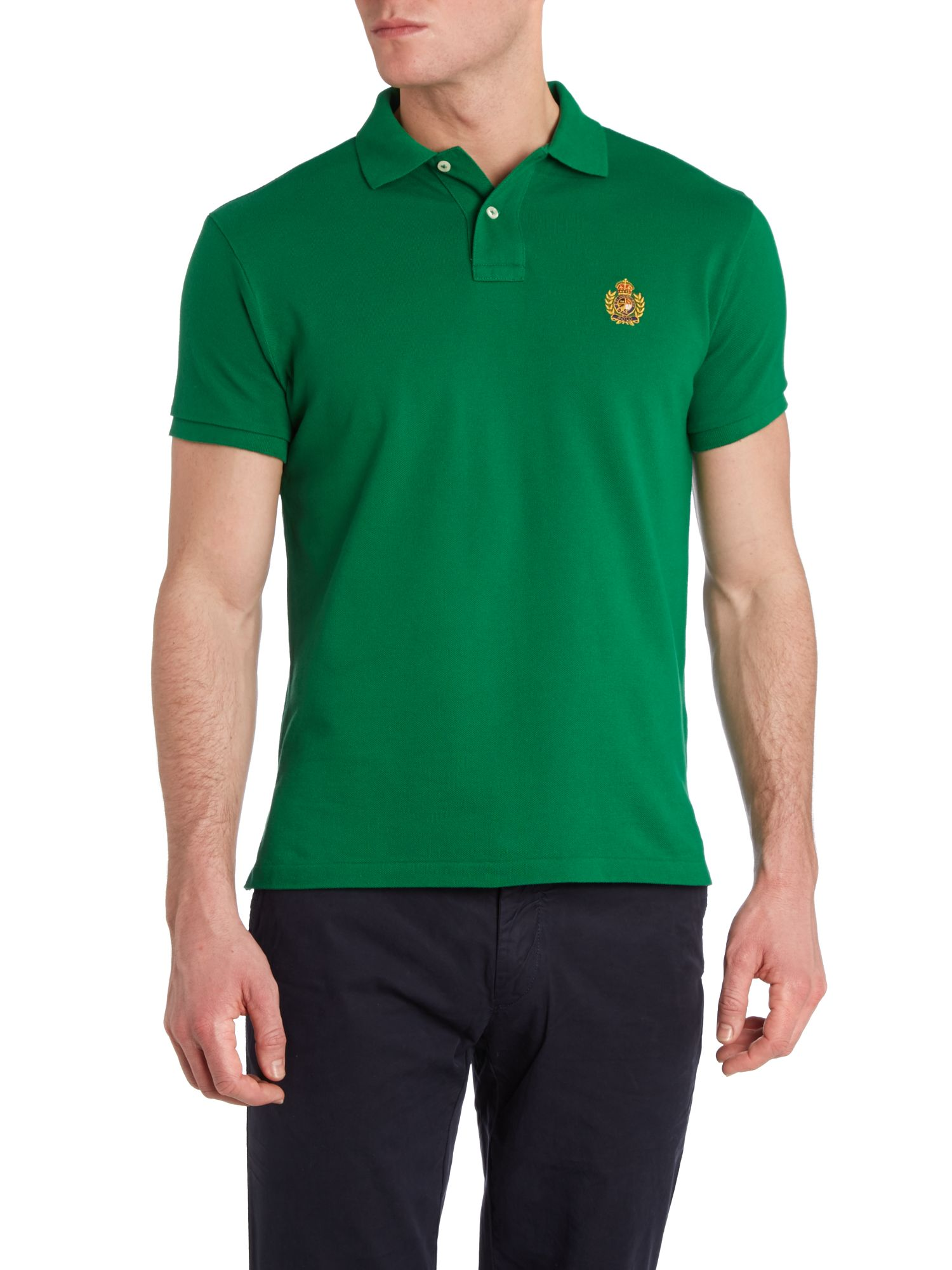 Crest badge polo shirt