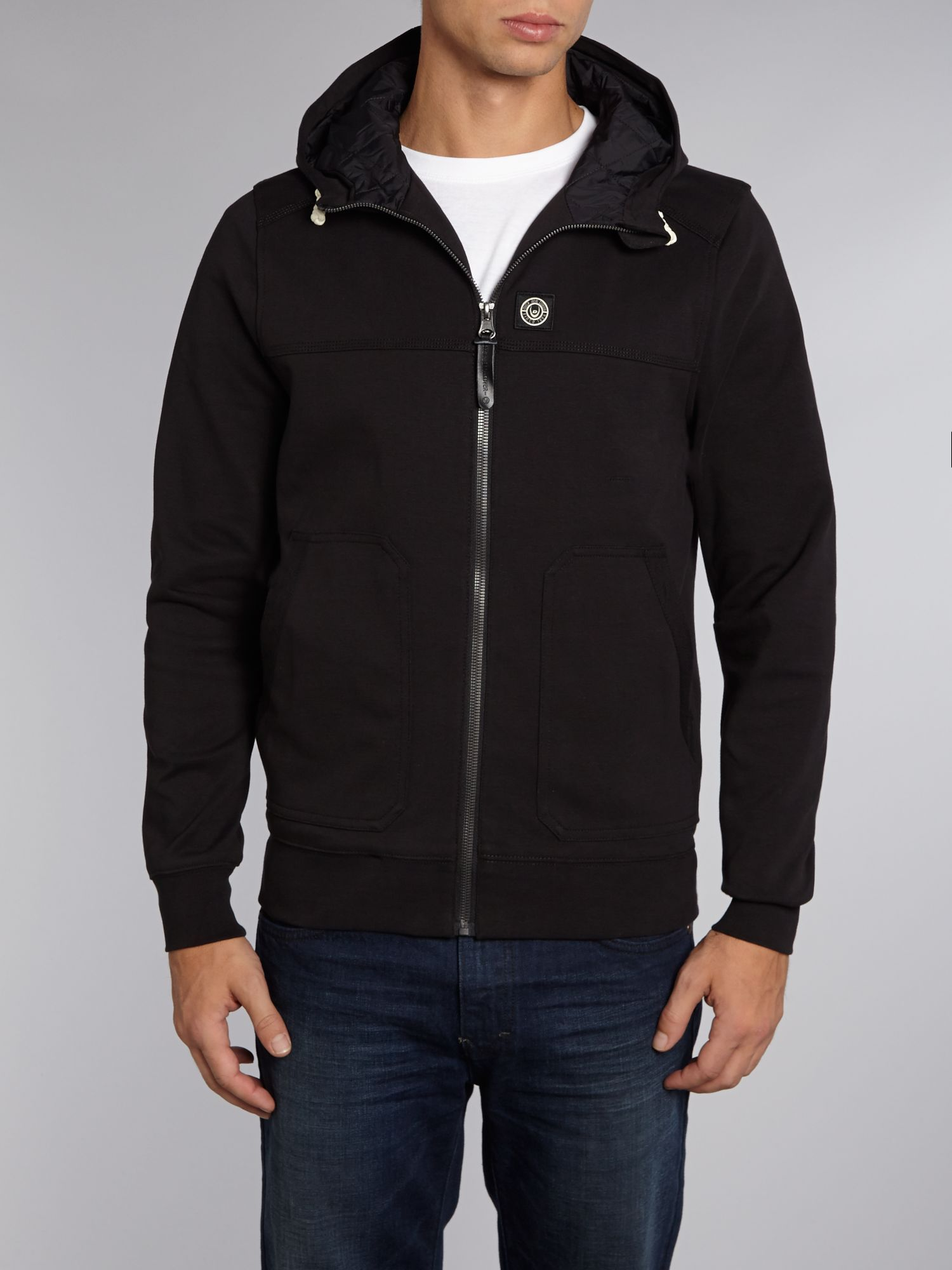 Hooded zip up sweatshirt