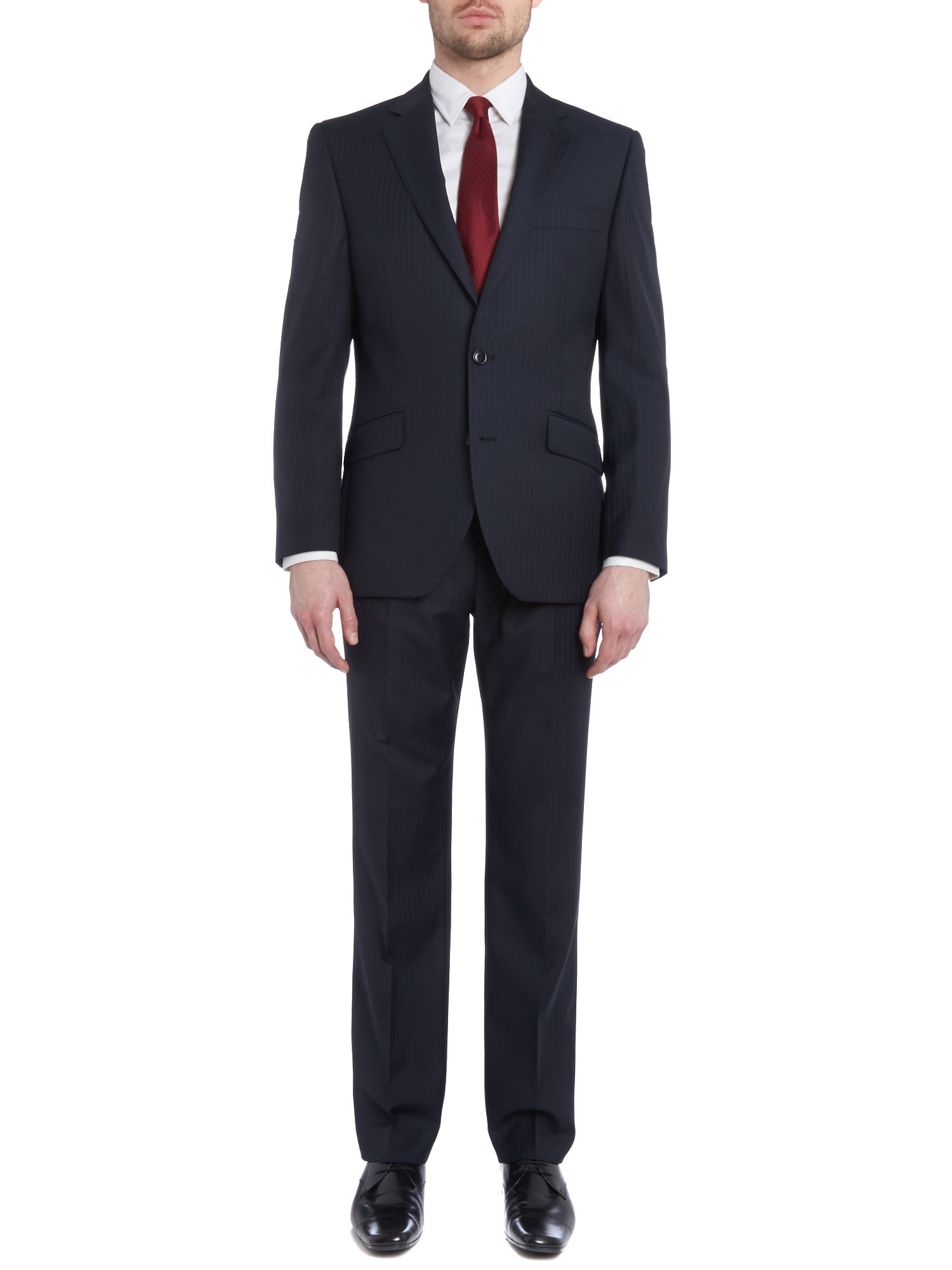Hatch Stripe Herringbone Nested Suit