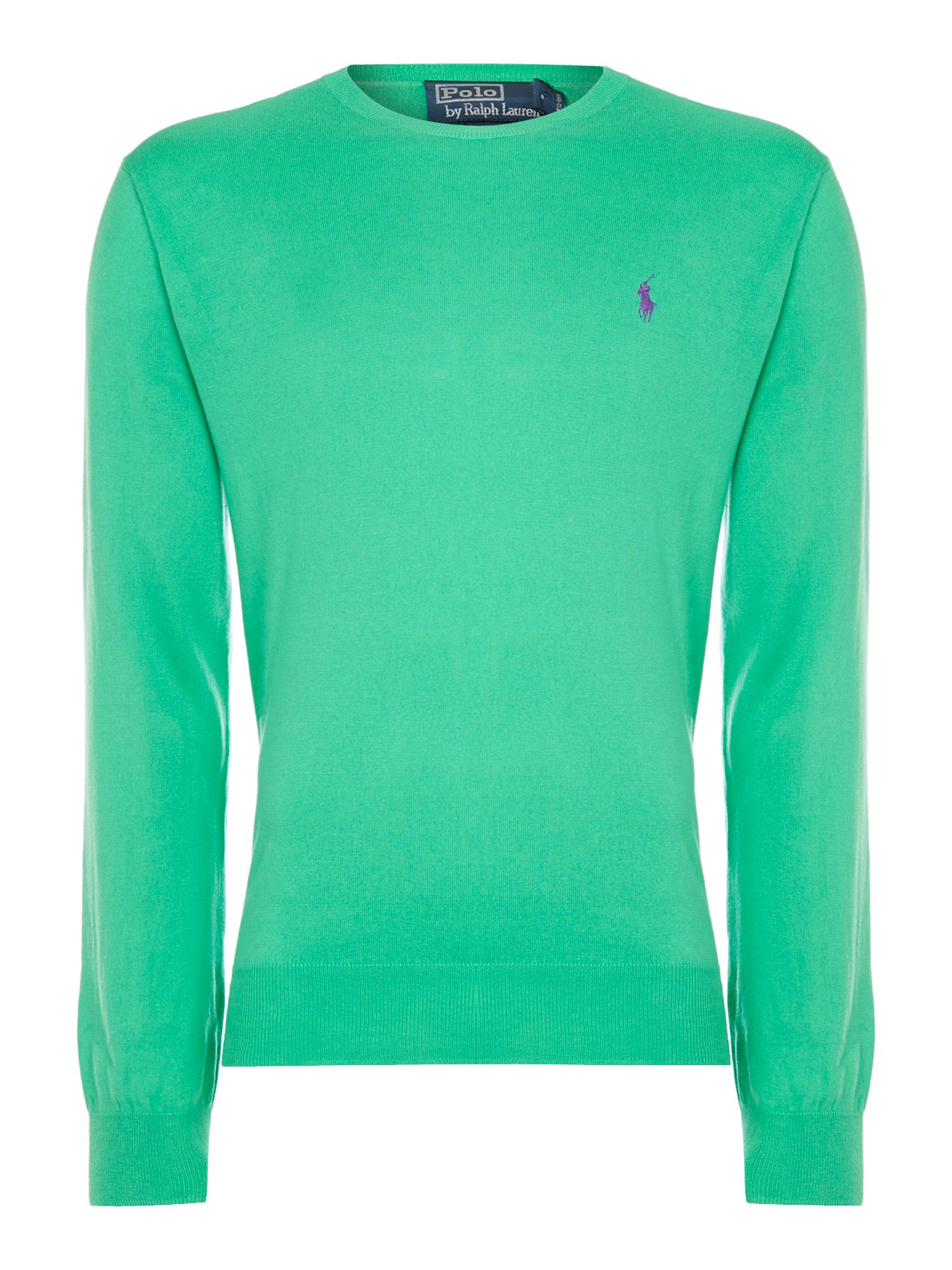 Pima cotton crew neck jumper