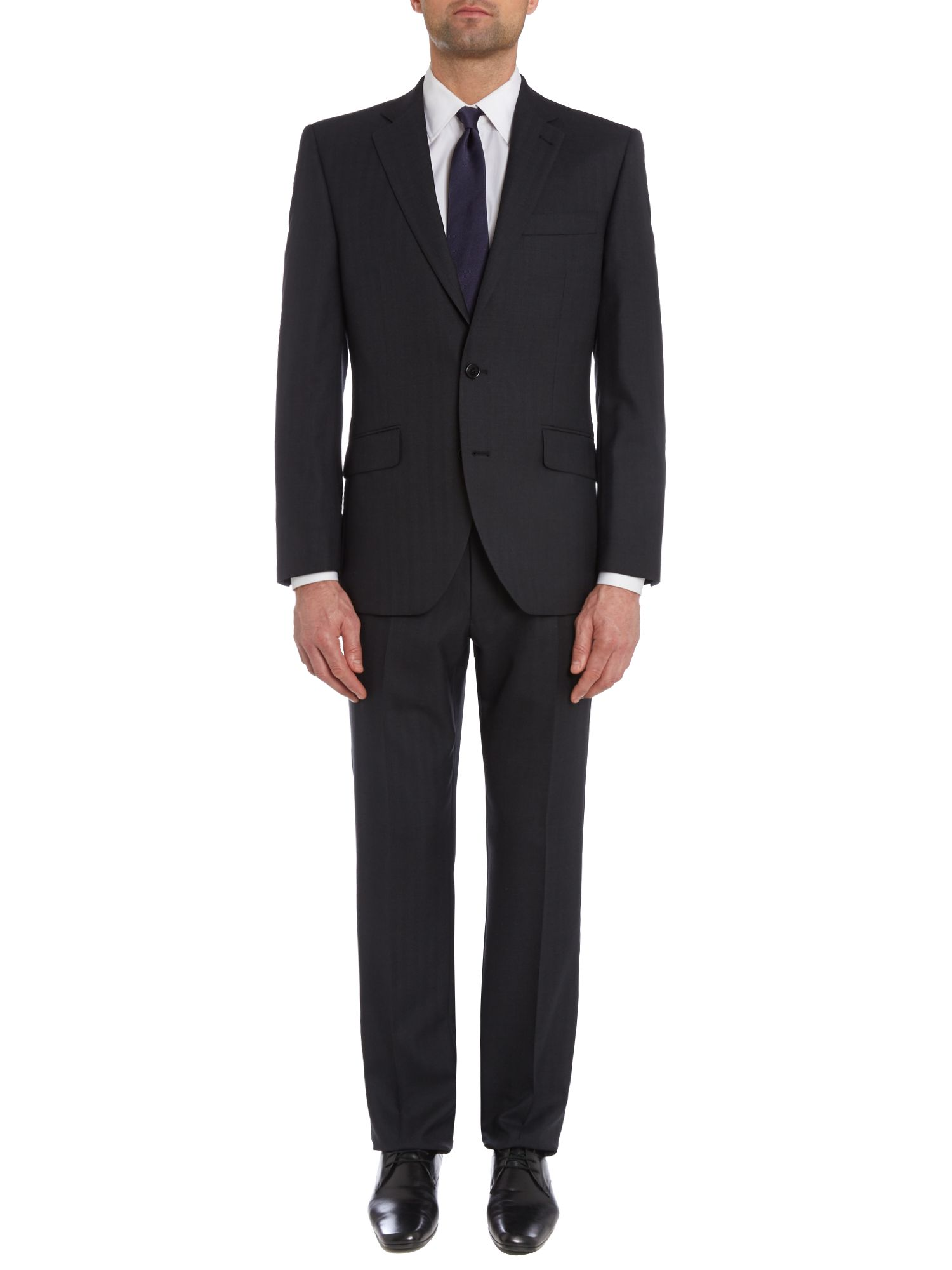 Oak Wide Herringbone Nested Suit