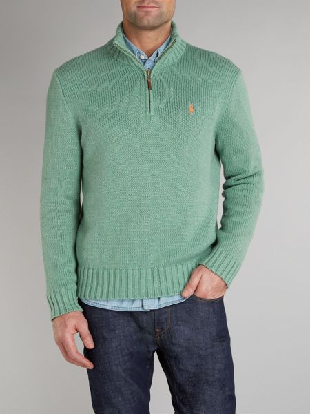 Polo Ralph Lauren Cotton half zip jumper