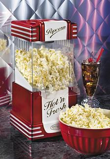 Nostalgia retro hot air popcorn maker, large