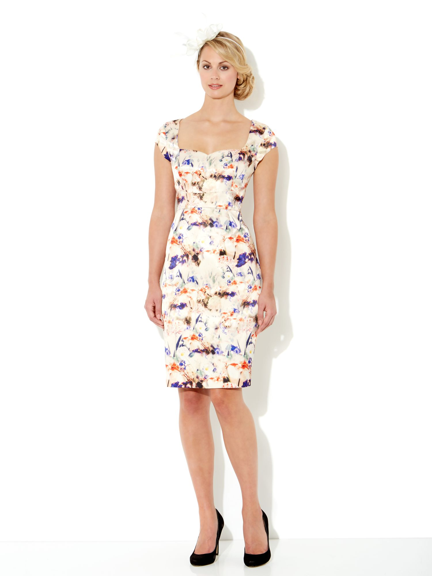 Printed satin dress