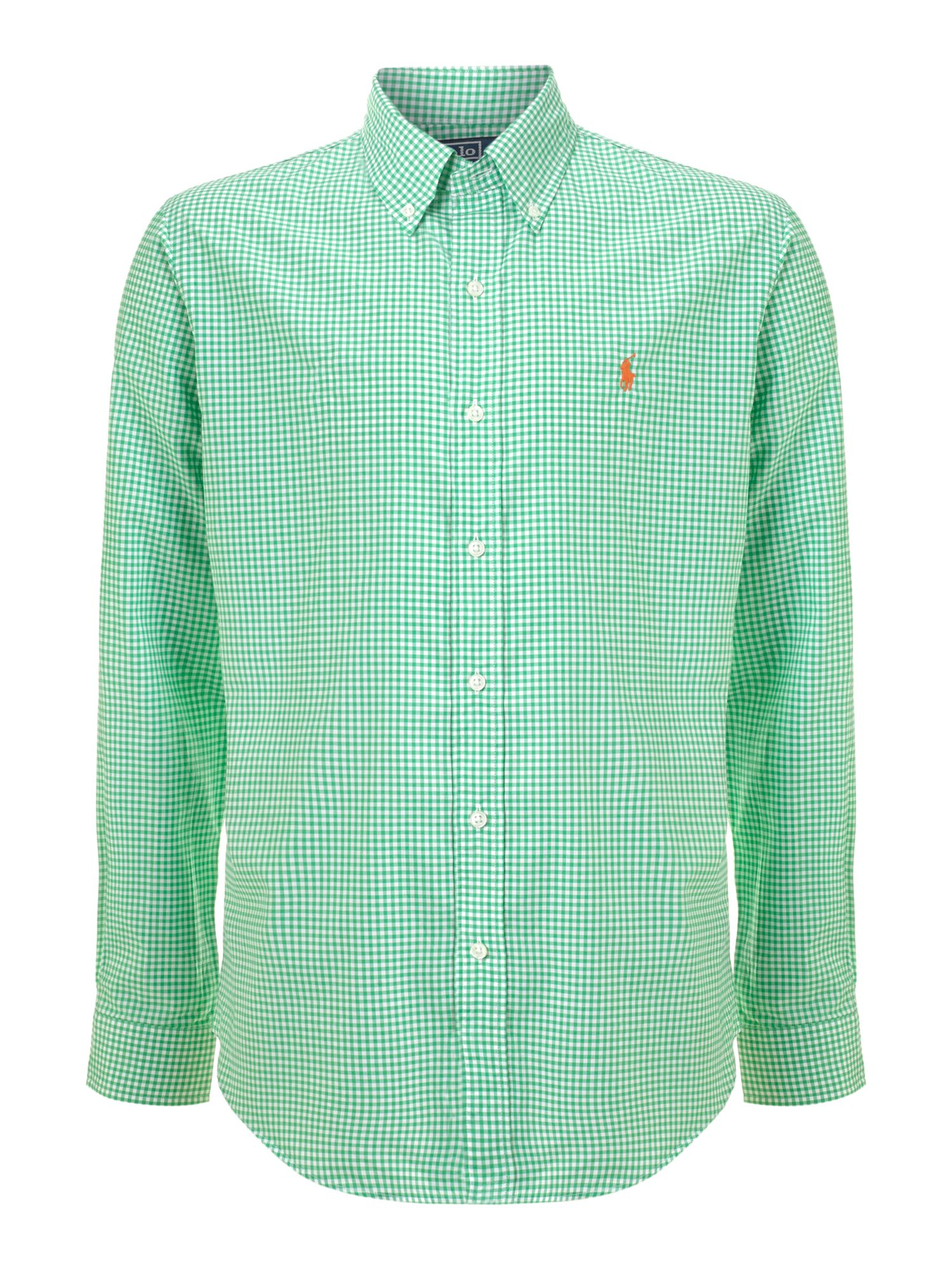 Classic Gingham Long Sleeve Shirt