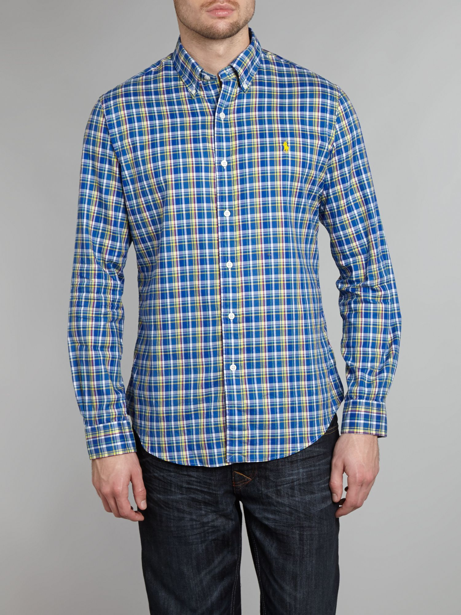 Multi Check Long Sleeve Shirt