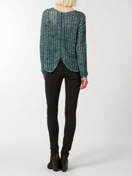 Label Lab Multi yarn zip back cropped jumper