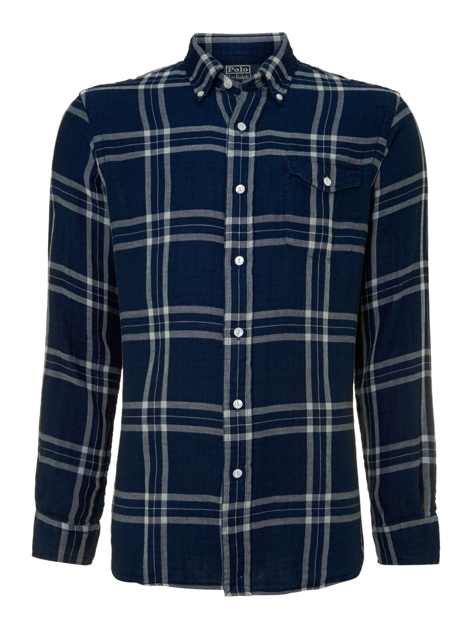 Large check shirt