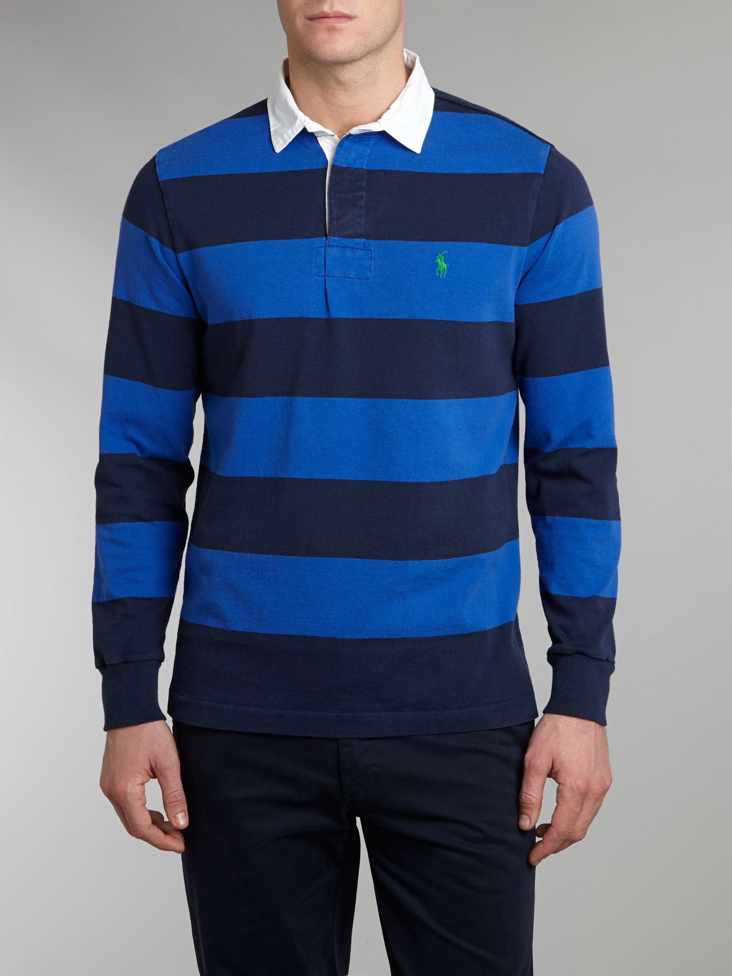 Striped custom fit rugby top