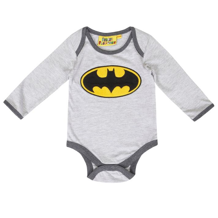 Batman Fleece logo baby all-in-one