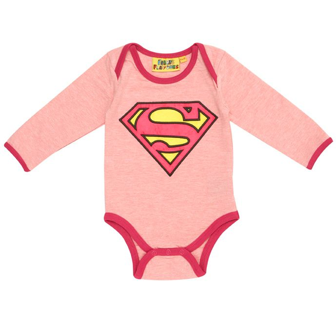 Supergirl logo baby all-in-one