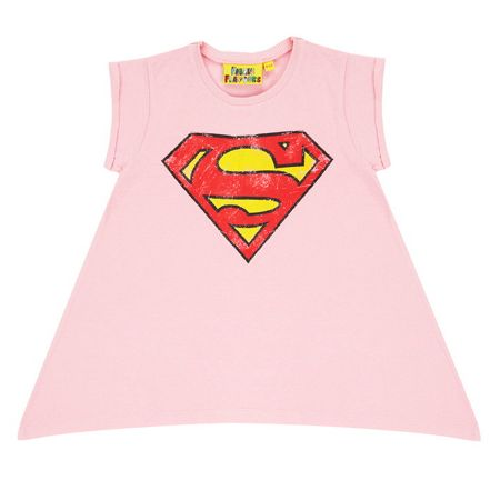 Fabric Flavours Girls Supergirl Logo T-Shirt