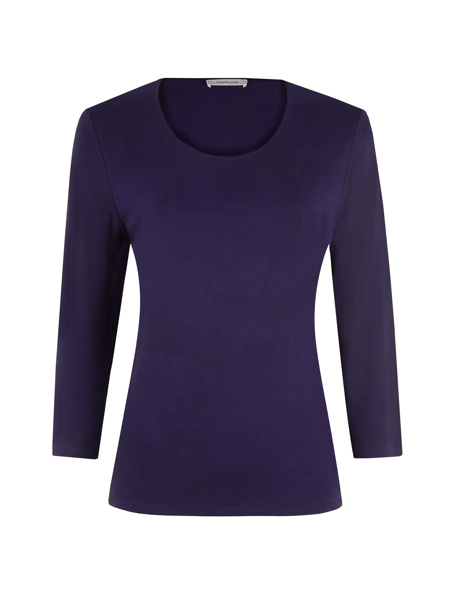 Damson scoop neck top