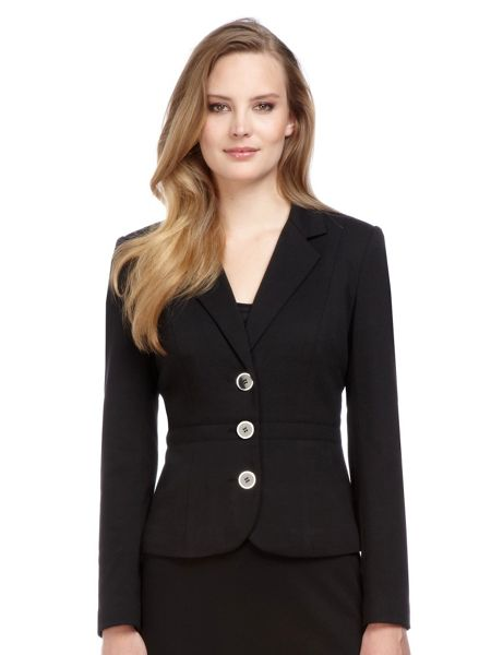 Planet Black short tailored jacket