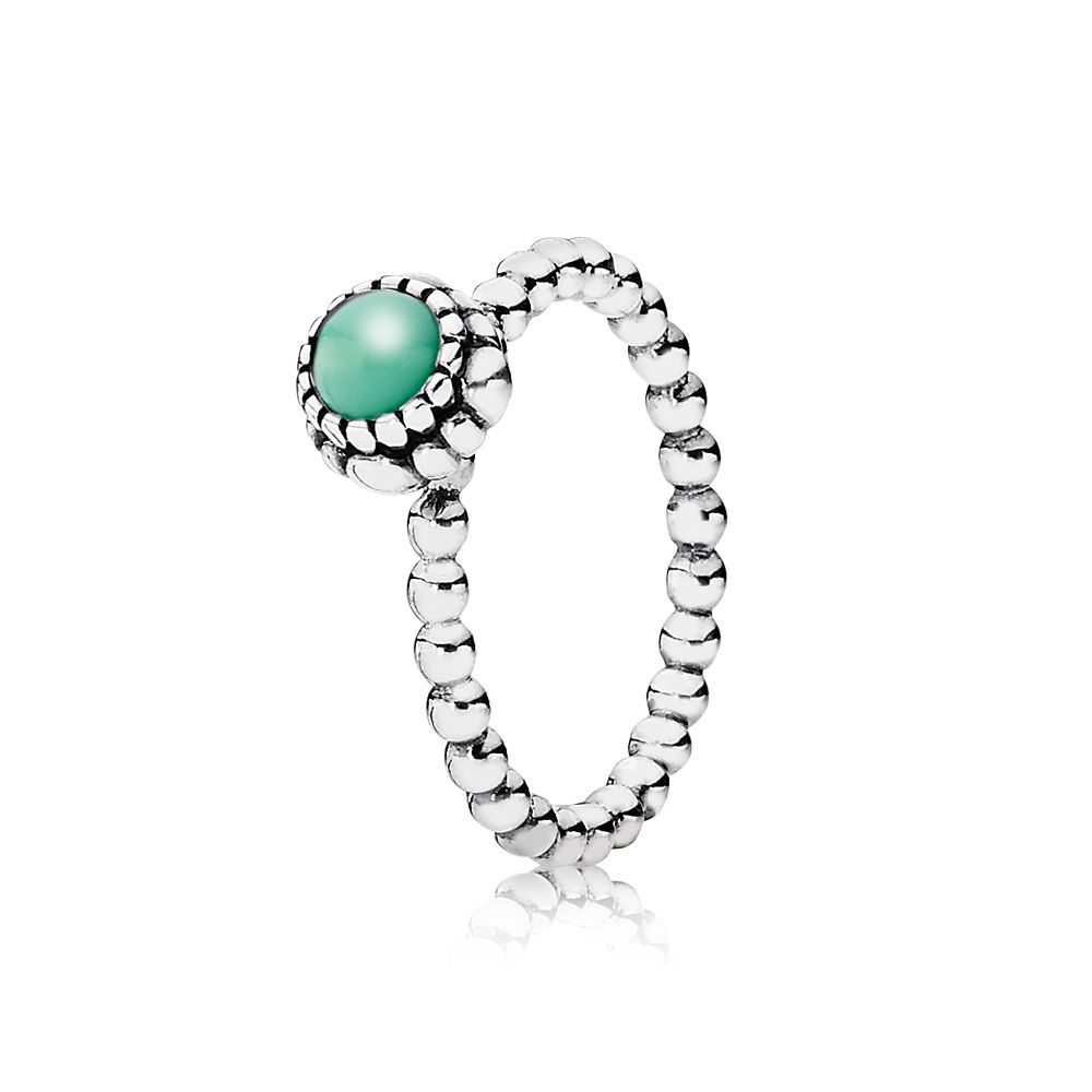 Chrysoprase May birthstone ring