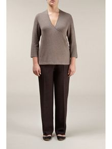 Chocolate tailored trouser