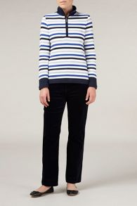 Navy classic leg cord trousers regular
