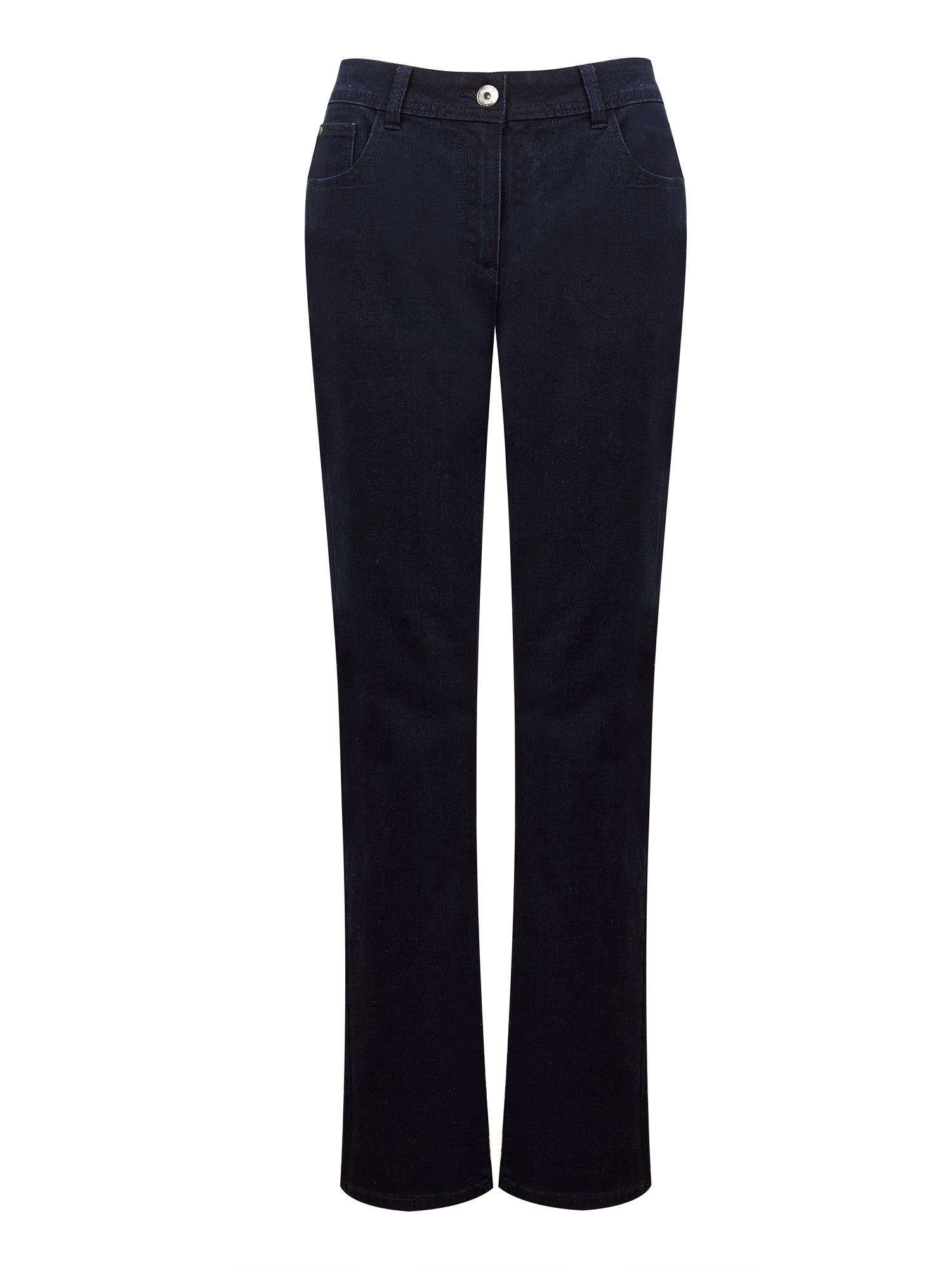 Dark wash classic leg jean long