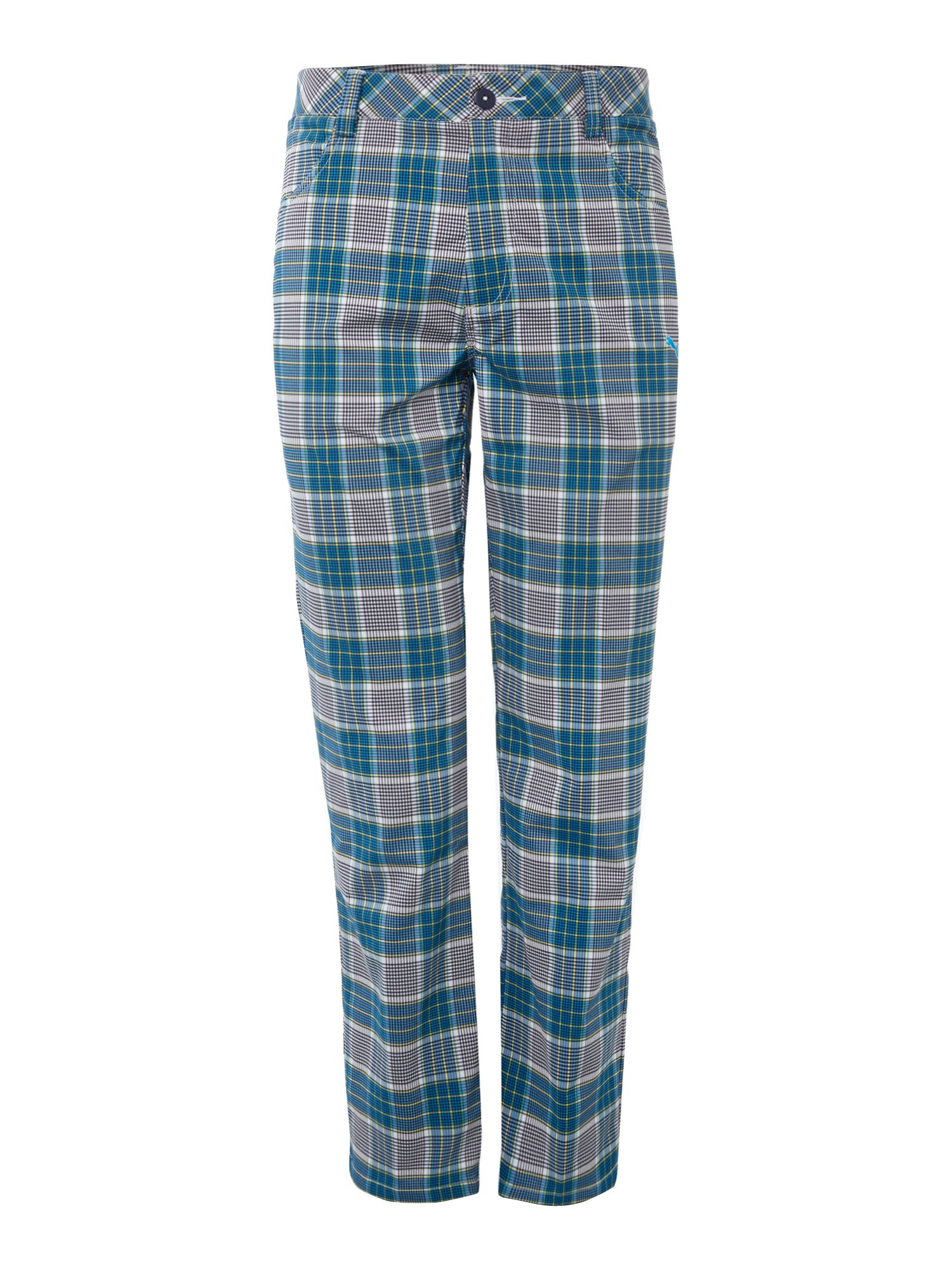 Plaid tech 5 pocket pant