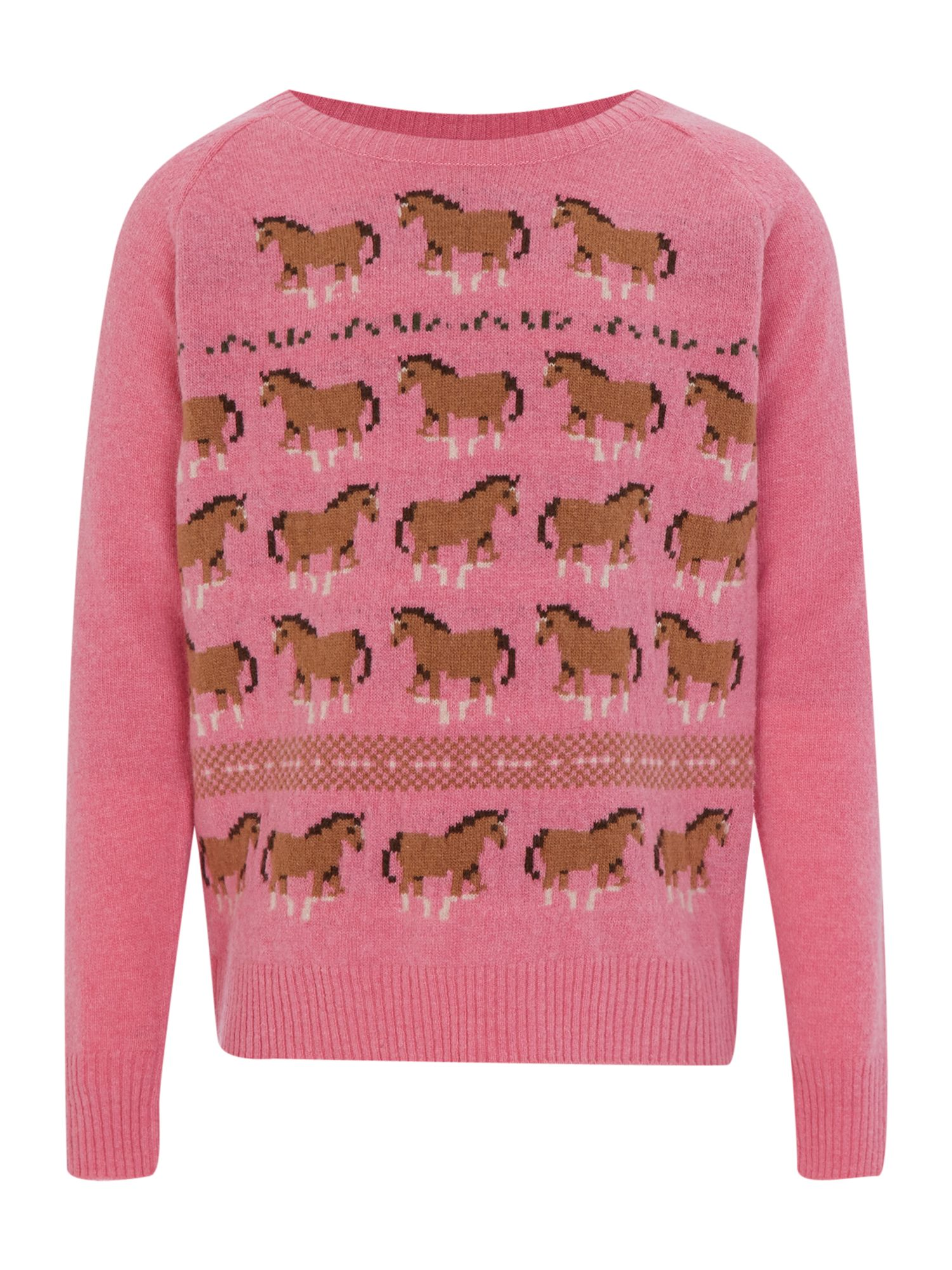Girl`s horse knitted jumper
