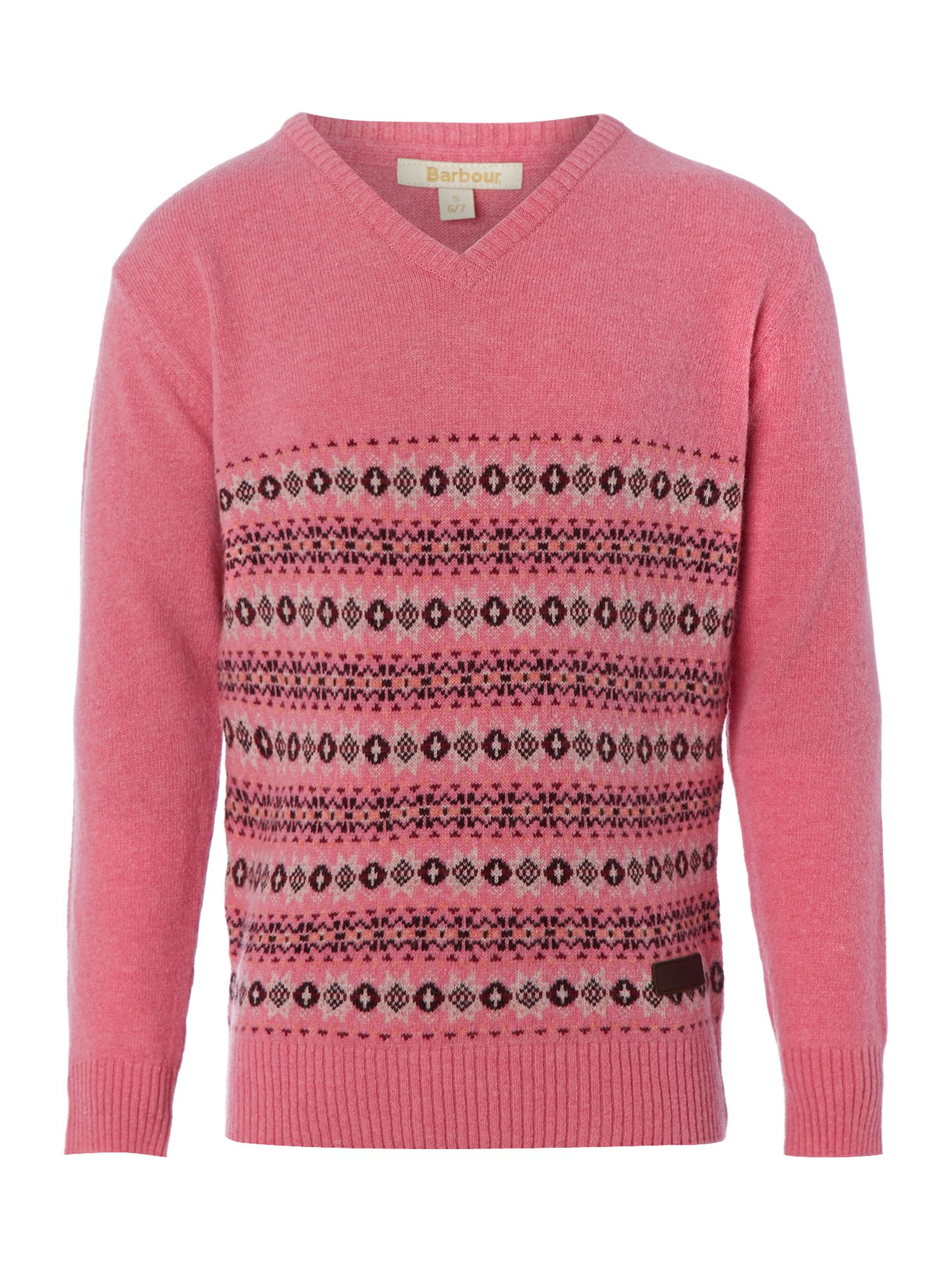 Girl`s applecross fairisle jumper