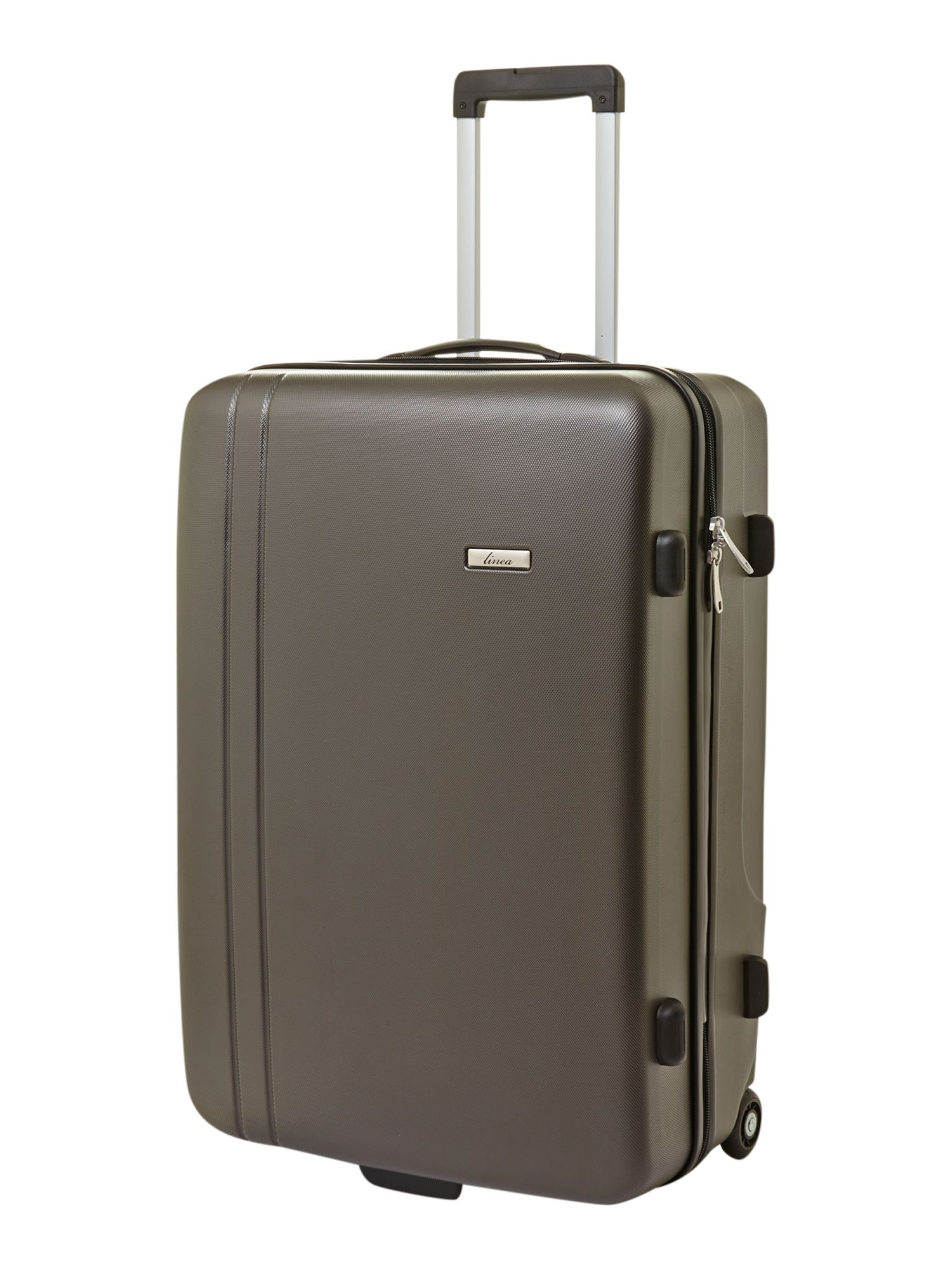 Capetown grey 2 wheel hard large suitcase