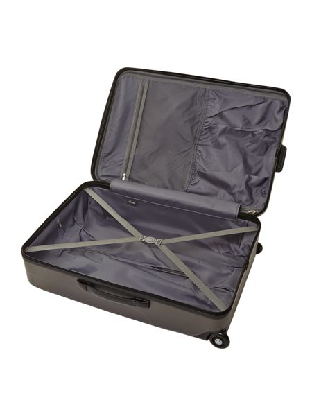 Linea Capetown grey 2 wheel hard large suitcase