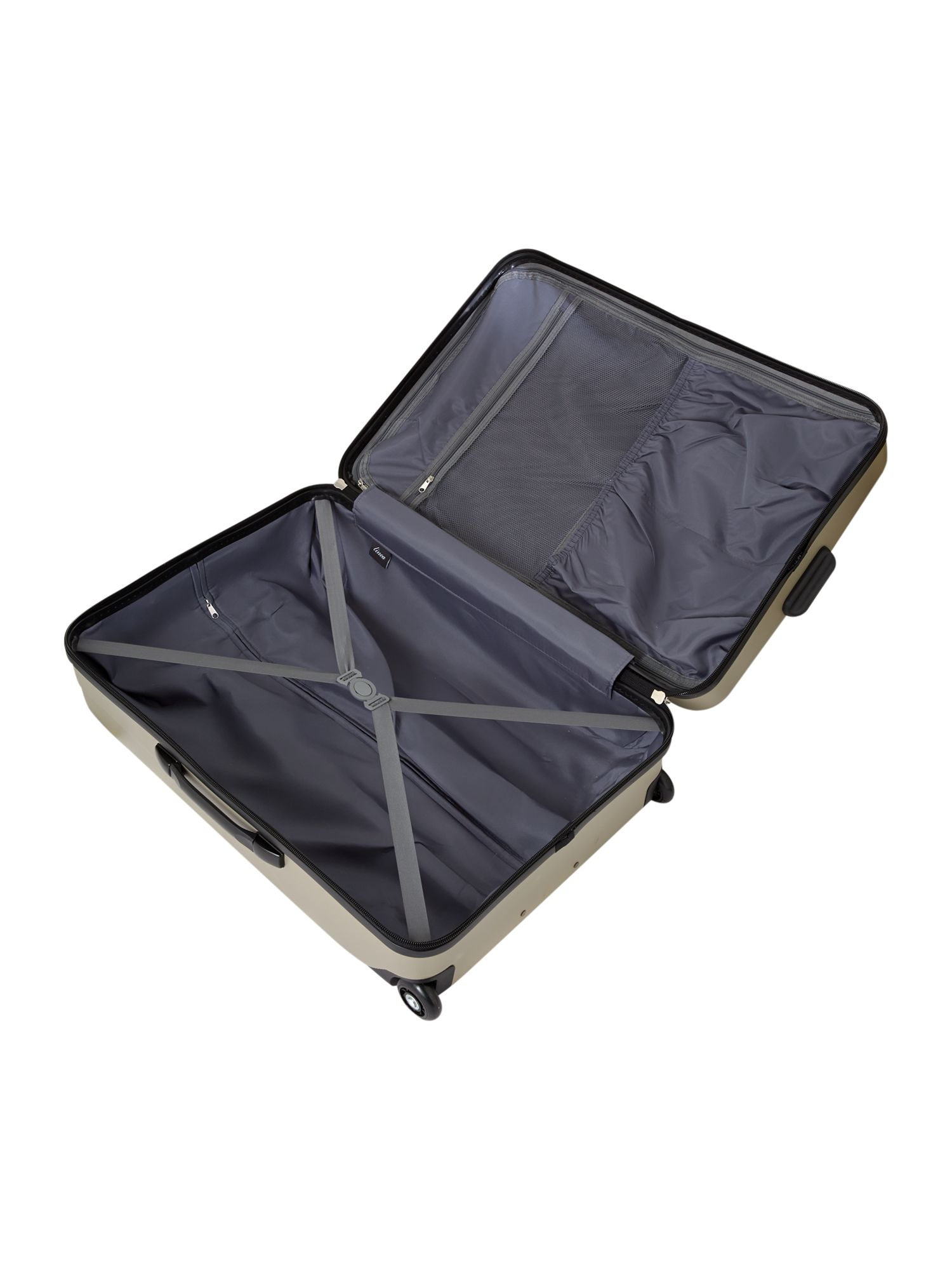 Capetown silver 2 wheel hard large suitcase