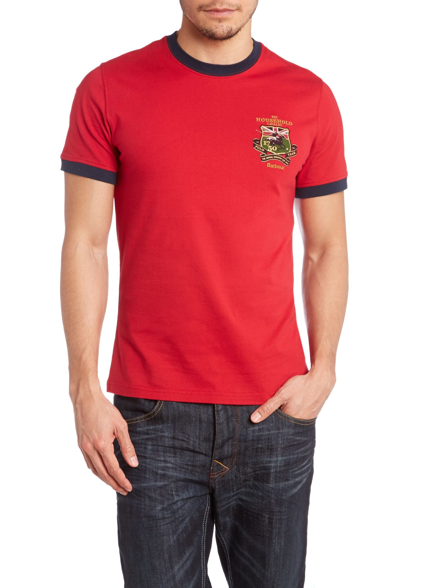 Captains shield print t-shirt