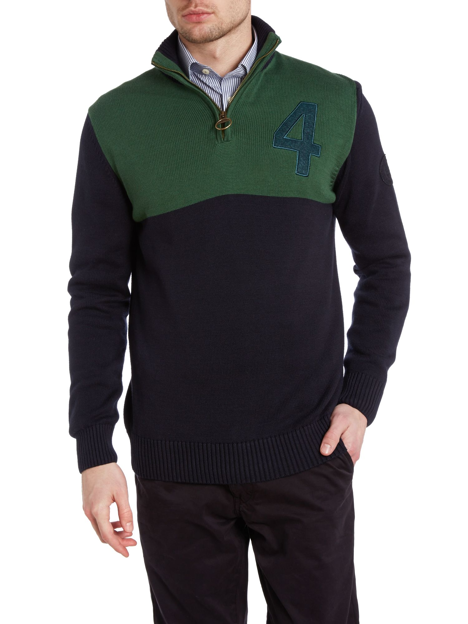 Sportsman half zip jumper