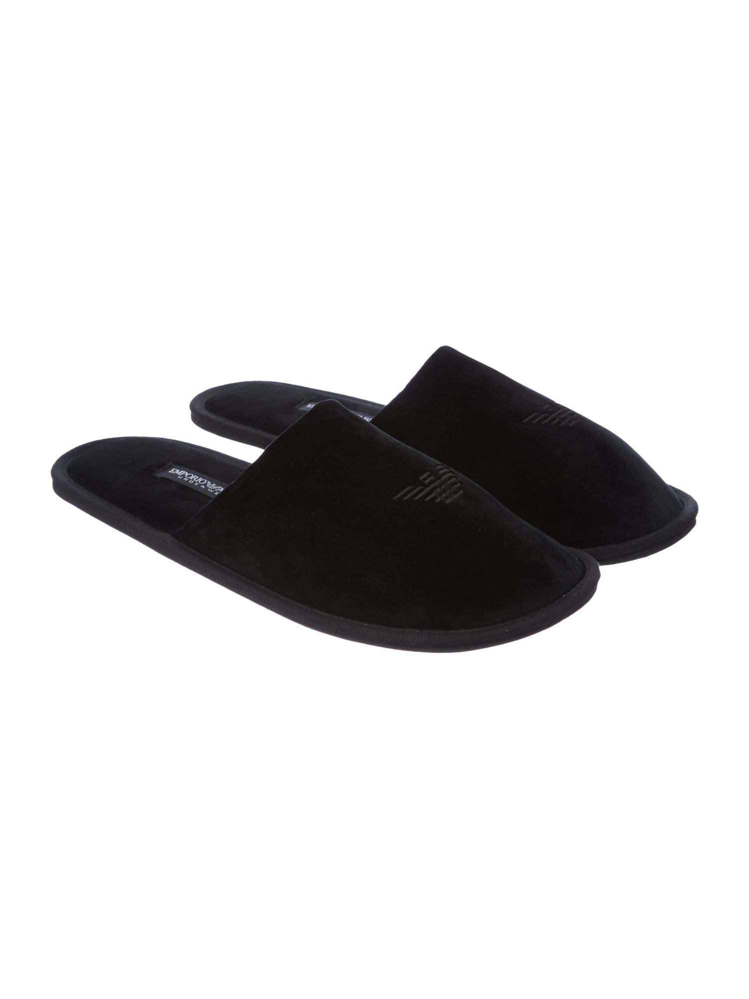 Logo slip on slippers